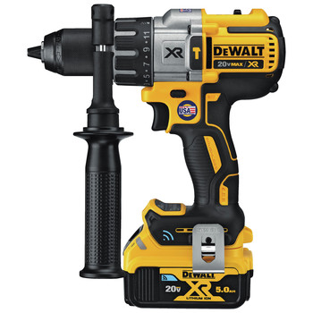 Dewalt DCD997P2BT 20V MAX XR Lithium-Ion Compact 1/2 in. Cordless Hammer Drill Kit with Tool Connect (5 Ah) image number 1