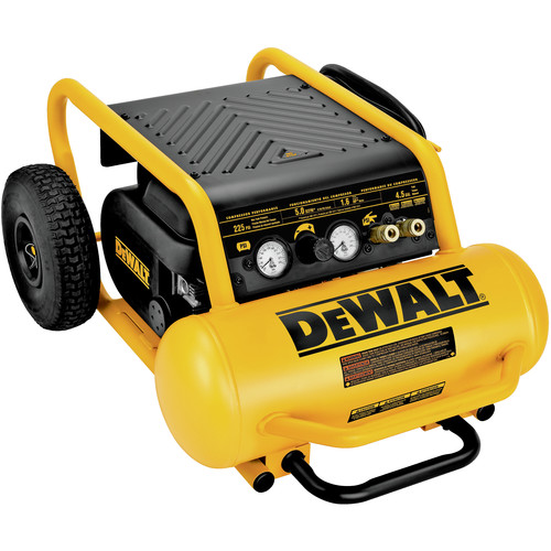 Dewalt D55146 1.6 HP 4.5 Gallon Oil-Free Wheeled Portable Air Compressor image number 0