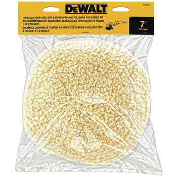 Dewalt DW4985CL 7 in. Wool Buffing and Backing Pad Kit image number 1