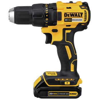 Factory Reconditioned Dewalt DCD777C2R 20V MAX Lithium-Ion Brushless Compact 1/2 in. Cordless Drill Driver Kit (1.5 Ah) image number 1