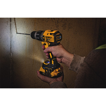 Dewalt DCD797D2 20V MAX XR Lithium-Ion Compact 1/2 in. Cordless Hammer Drill Kit with Tool Connect (2 Ah) image number 1