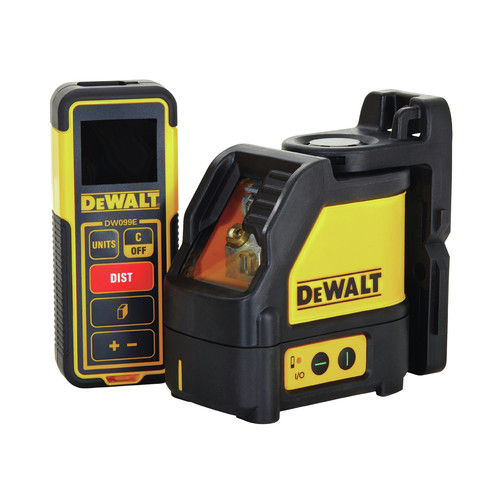 Dewalt DW0889CG Green Beam Cross Line Laser and 99 ft. Laser Distance Measurer Kit image number 0