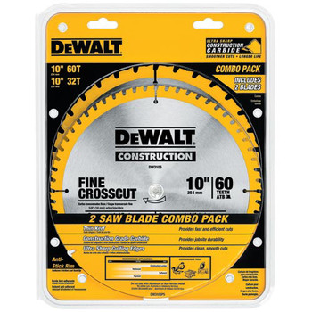 Dewalt DW3106P5 2 Pc 10 in. Series 20 Circular Saw Blade Combo Pack