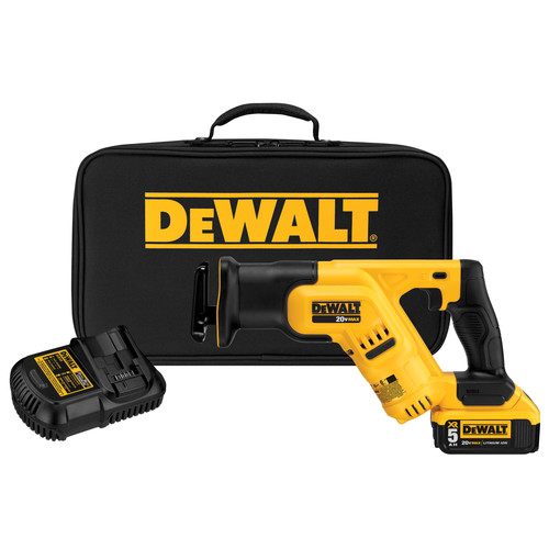 Dewalt DCS387P1 20V MAX 5.0 Ah Cordless Lithium-Ion Reciprocating Saw Kit
