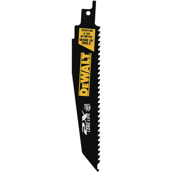 Dewalt DWA4101 8-Piece 2X Reciprocating Saw Blade Set with Tough Case image number 2