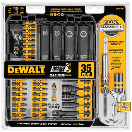 Dewalt DWA2T35IR 35-Piece Impact Ready Screwdriving Bit Set