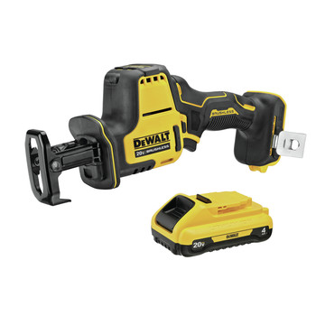 Dewalt DCS369B-DCB240-BNDL ATOMIC 20V MAX Lithium-Ion One-Handed Cordless Reciprocating Saw and 4 Ah Compact Lithium-Ion Battery