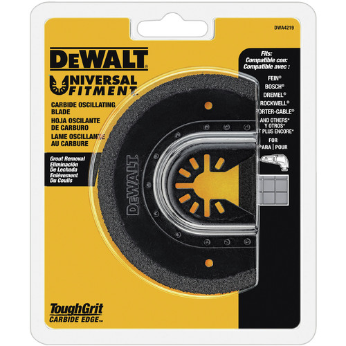 Dewalt DWA4219 Oscillating Tool Carbide Grout Removal Blade