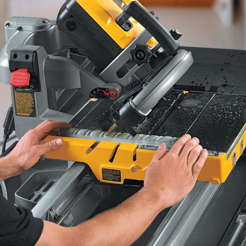 Dewalt D In Wet Tile Saw - Dewalt wet saw pump