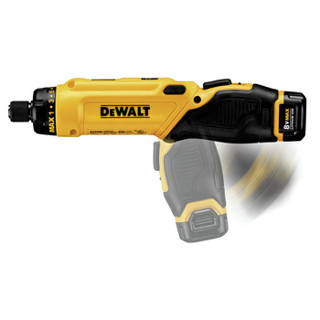 Dewalt DCF680N2 8V MAX Cordless Lithium-Ion Gyroscopic Screwdriver Kit with 2 Compact Batteries image number 6