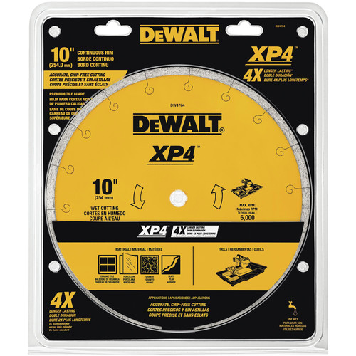Dewalt DW4764 10 in. x .060 in. Extended Performance Tile Blade