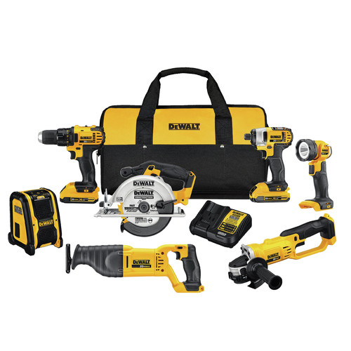 Factory Reconditioned Dewalt DCK720D2R 20V MAX Compact 7-Tool Combo Kit image number 0