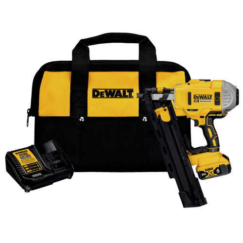 Factory Reconditioned Dewalt DCN21PLM1R 20V MAX Lithium-Ion 21-Degree Plastic Collated Framing Nailer Kit (4 Ah) image number 0