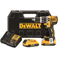 Dewalt DCD796D2BT 20V MAX XR Cordless Lithium-Ion 1/2 in. Brushless Compact 2-Speed Hammer Drill Kit with 2.0 Ah Bluetooth Battery