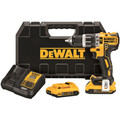 Dewalt DCD796D2 20V MAX XR 2.0 Ah Cordless Lithium-Ion 1/2 in. Brushless Compact 3-Speed Hammer Drill Kit