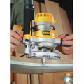 Dewalt DW618PK 2-1/4 HP EVS Fixed Base & Plunge Router Combo Kit with Hard Case image number 10