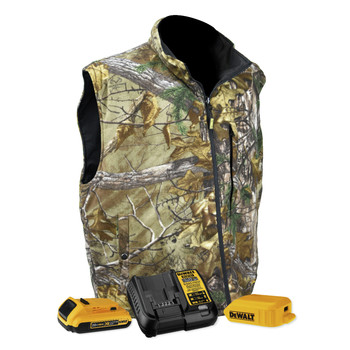 Dewalt DCHV085BD1-XL Realtree Xtra Heated Fleece Vest Kit - XL, Camo