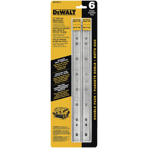 Dewalt DW7352-2 13 in. Replacement Planer Knives for DW735 (2-Pack) image number 0