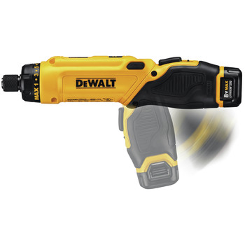 Factory Reconditioned Dewalt DCF680N2R 8V MAX Cordless Lithium-Ion Gyroscopic Screwdriver Kit with 2 Compact Batteries image number 8