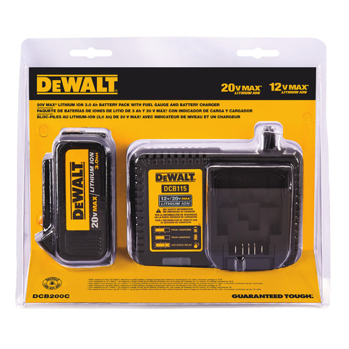 Dewalt DCB200C 20V MAX 3 Ah Lithium-Ion Battery and Charger Kit image number 0