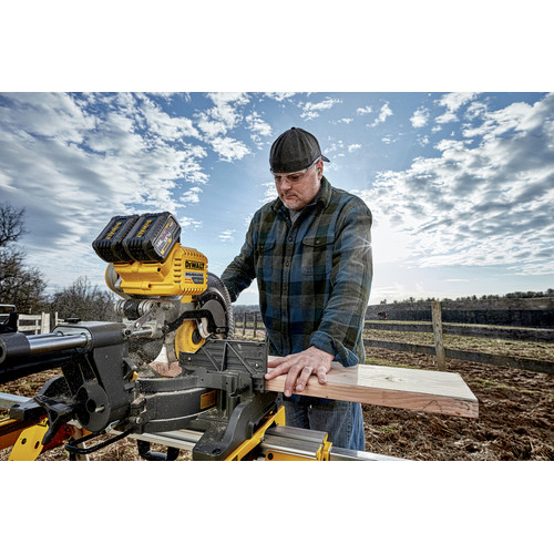 Factory Reconditioned Dewalt DHS790AT2R MAX FlexVolt Cordless Lithium-Ion 12 in. Dual Bevel Sliding Compound Miter Saw Kit with Batteries and Adapter image number 5