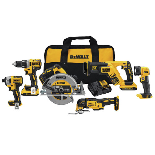 Factory Reconditioned Dewalt DCK684D2R 20V MAX XR 6-Tool Compact Combo Kit image number 0