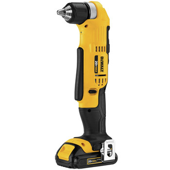 Dewalt DCD740C1 20V MAX Lithium-Ion Compact 3/8 in. Cordless Right Angle Drill Kit (1.5 Ah) image number 1