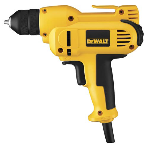 Factory Reconditioned Dewalt DWD115KR 3/8 in. 0 - 2,500 RPM 8.0 Amp VSR Mid-Handle Drill Kit with Keyless Chuck