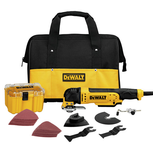 Factory Reconditioned Dewalt DWE315K 3 Amp Oscillating Tool Kit with 29 Accessories image number 0