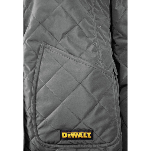 Dewalt DCHJ084CD1-L 20V MAX Li-Ion Charcoal Women's Flannel Lined Diamond Quilted Heated Jacket Kit image number 2