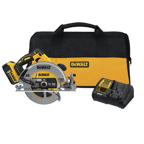 Dewalt DCS570P1 20V MAX 7-1/4 Cordless Circular Saw Kit with 5.0 AH Battery image number 0