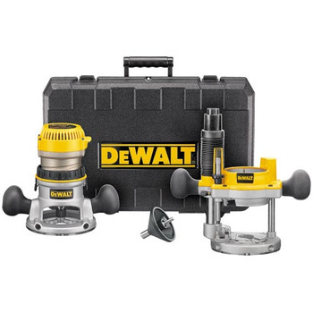 Dewalt DW616PK 1-3/4 HP  Fixed Base and Plunge Router Combo Kit image number 0