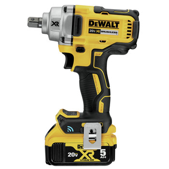 Dewalt DCF896P2 20V MAX Tool Connect 1/2 in. Mid-Range Detent Pin Anvil Impact Wrench Kit image number 2