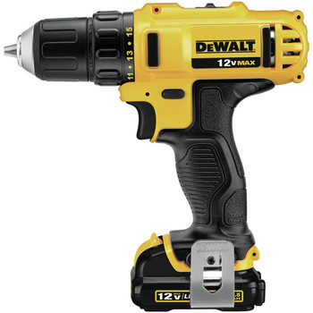 Dewalt DCD710S2 12V MAX Lithium-Ion 3/8 in. Cordless Drill Driver Kit with Keyless Chuck (1.5 Ah) image number 1