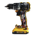 Factory Reconditioned Dewalt DCD791D2R 20V MAX XR Lithium-Ion Brushless Compact 1/2 in. Cordless Drill Driver Kit (2 Ah) image number 3