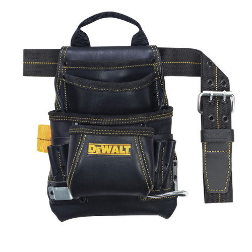 Dewalt DG5433 10-Pocket Carpenter's Top Grain Leather Nail and Tool Bag image number 0