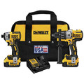 Dewalt DCK299M2 20V MAX XR 4.0 Ah Cordless Lithium-Ion Brushless Hammer Drill and Impact Driver Combo Kit image number 0