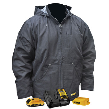 Dewalt DCHJ076ABD1-3X 20V MAX Li-Ion Heavy Duty Heated Work Coat Kit - 3XL