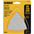 Dewalt DWASPTRI3 Assorted Hook and Loop Triangle Sandpaper - (12-Pack) image number 0