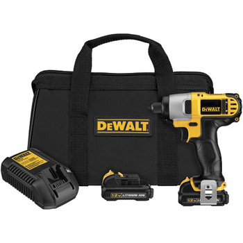 Dewalt DCF815S2 12V MAX Cordless Lithium-Ion 1/4 in. Impact Driver Kit image number 1
