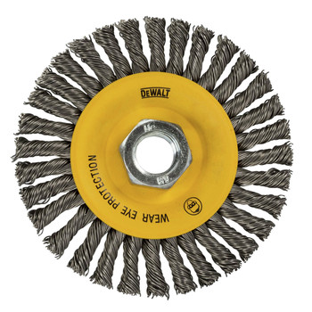 Dewalt DW49204B 4 in. x 0.020 in. Stainless Stringer Wire Wheel