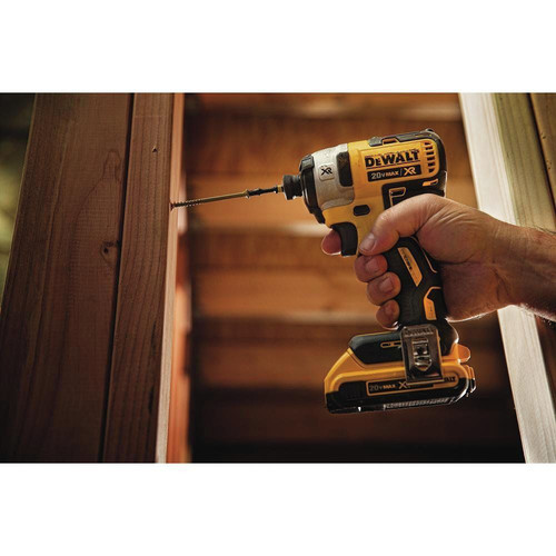 Dewalt DCF887D2 20V MAX XR 2.0 Ah Cordless Lithium-Ion 1/4 in. Brushless Impact Driver Kit image number 6