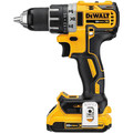 Dewalt DCD791D2 20V MAX XR Lithium-Ion Brushless Compact 1/2 in. Cordless Drill Driver Kit (2 Ah) image number 2
