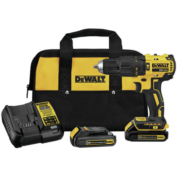 Dewalt DCD778C2 20V MAX Brushless Lithium-Ion Compact 1/2 in. Cordless Hammer Drill Driver Kit (1.3 Ah)