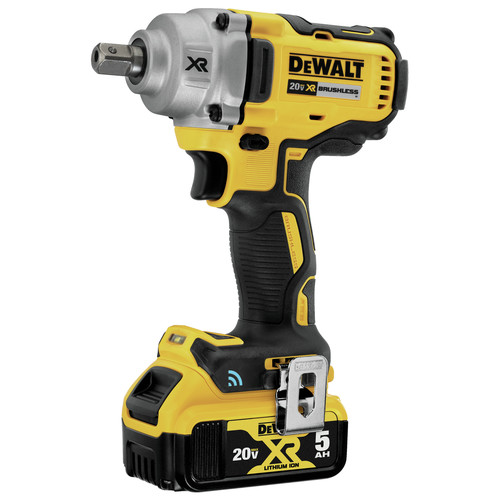 Dewalt DCF896P2 20V MAX Tool Connect 1/2 in. Mid-Range Detent Pin Anvil Impact Wrench Kit image number 1