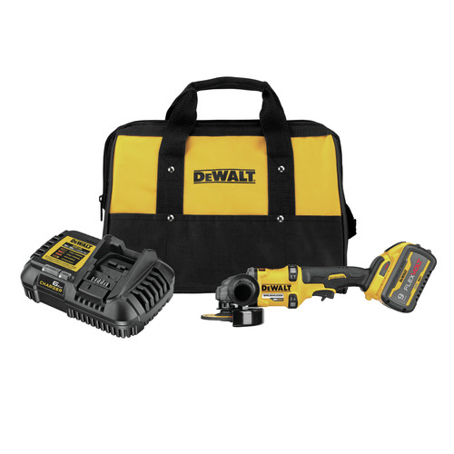 Dewalt DCG418X1 FLEXVOLT 60V MAX Brushless Lithium-Ion 4-1/2 in. - 6 in. Cordless Grinder Kit with Kickback Brake and (1) 9 Ah Battery image number 0