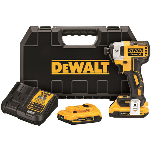 Dewalt DCF887D2 20V MAX XR 2.0 Ah Cordless Lithium-Ion 1/4 in. Brushless Impact Driver Kit image number 0