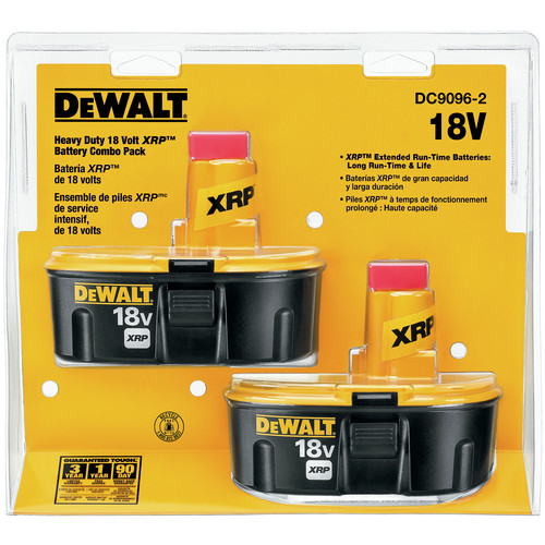 Dewalt DC9096-2 18V XRP 2.4 Ah Ni-Cd Battery (2-Pack) image number 0