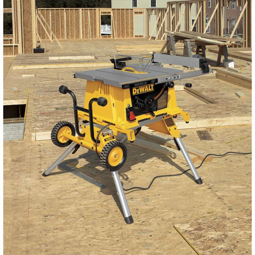 Dewalt 15 Amp 10 In Job Site Table Saw With Scissor Stand Dwe7490x
