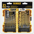 Dewalt DW1361 21 Pc Titanium Pilot Point Drill Bit Set image number 2